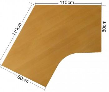 IKEA Effektiv Tischplatte in Buche, 110x110x80x80cm, Schwalbe