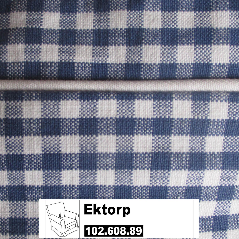 Ikea Ektorp Jennylund Bezug Für Sessel Norraby Blau Kariert 102608