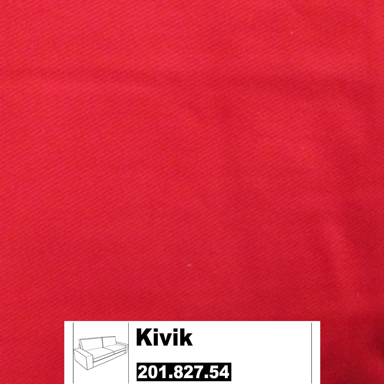 Ikea Kivik Bezug F R 3er Sofa In Ingebo Leuchtend Rot