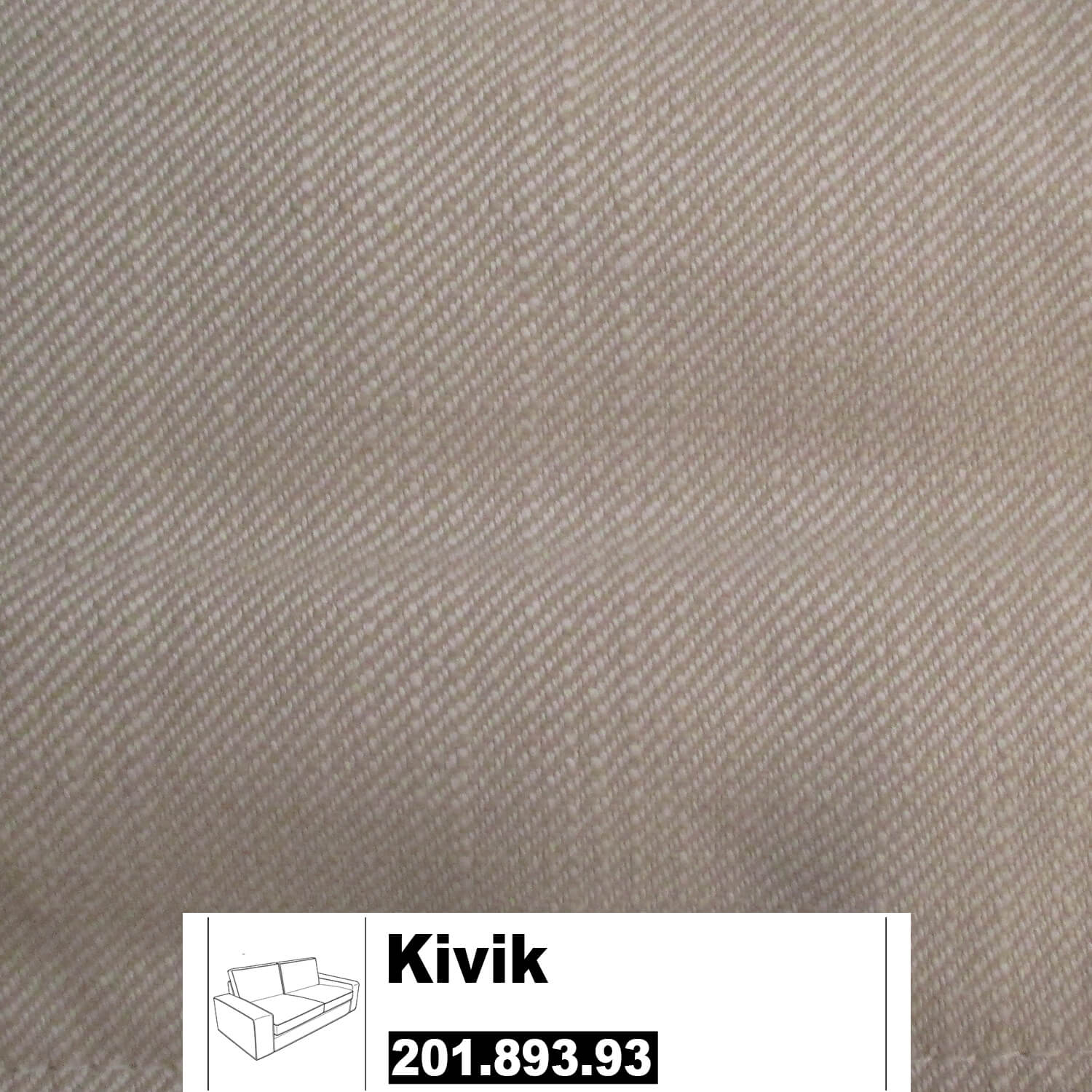 ikea kivik bezug f r 2er sofa in svanby beige. Black Bedroom Furniture Sets. Home Design Ideas
