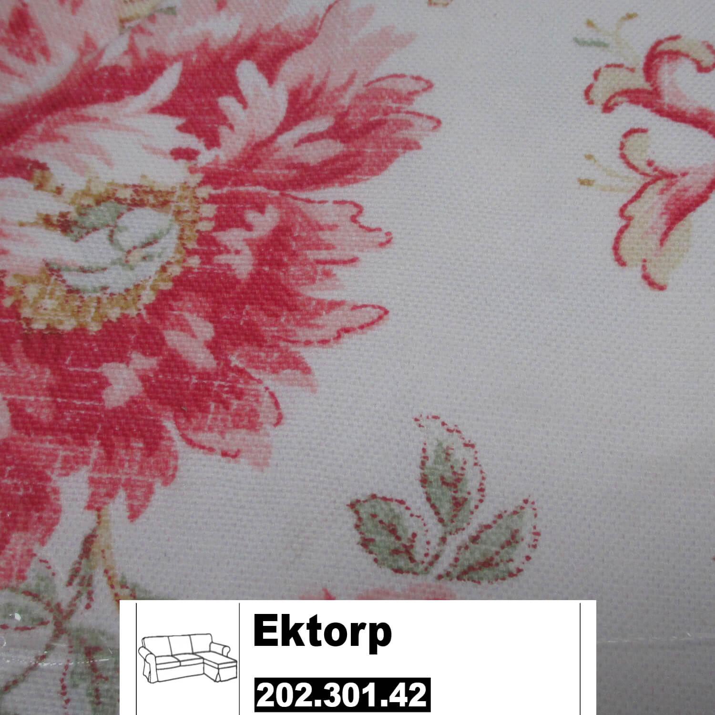 IKEA Ektorp Bezug 2er Sofa Mit Récamiere Byvik Bunt 202.301.42