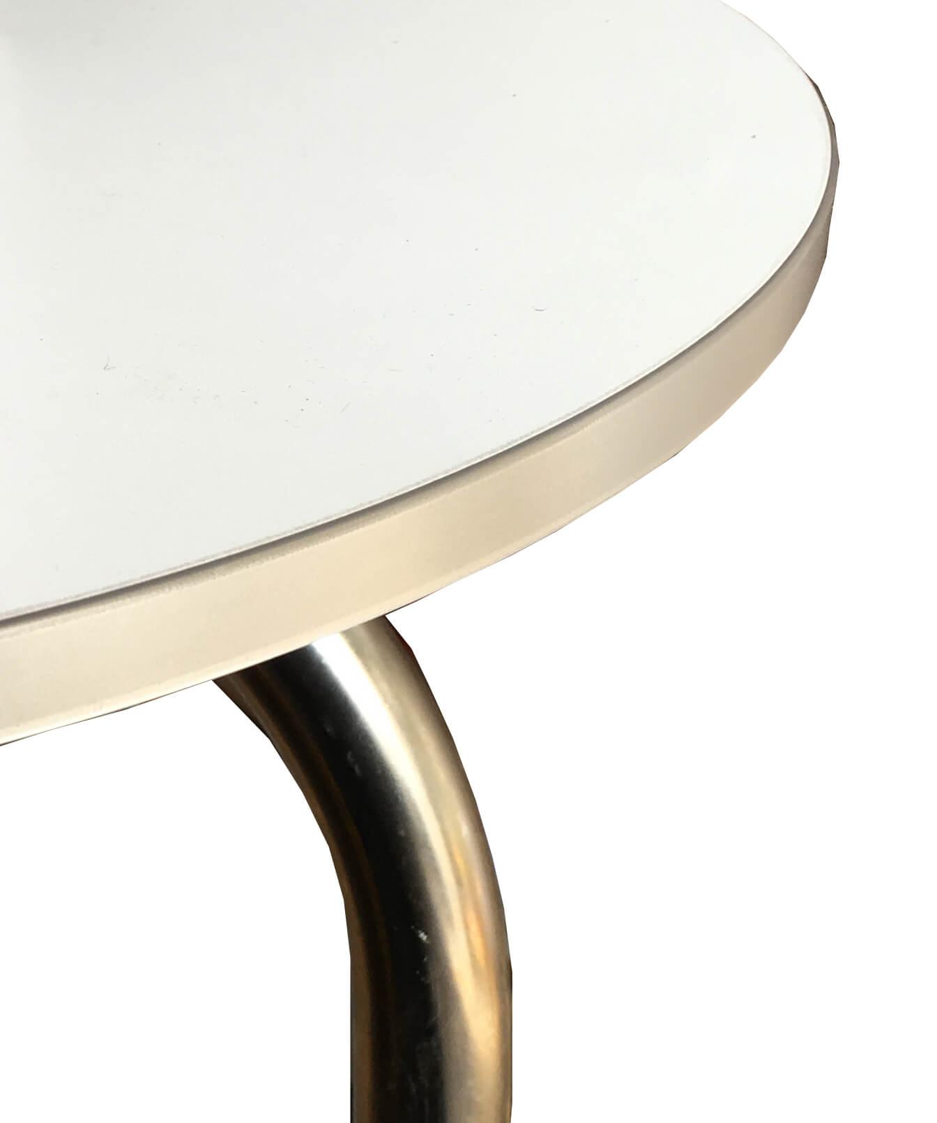 Ikea grimle esstisch 180x95cm wei grau chrom 220143541 for Esstisch grau weiss