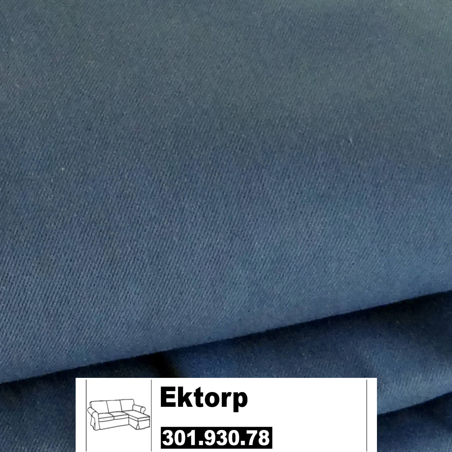 ikea ektorp bezug f 2er sofa mit recamiere in idemo blau 30193078 30193078. Black Bedroom Furniture Sets. Home Design Ideas