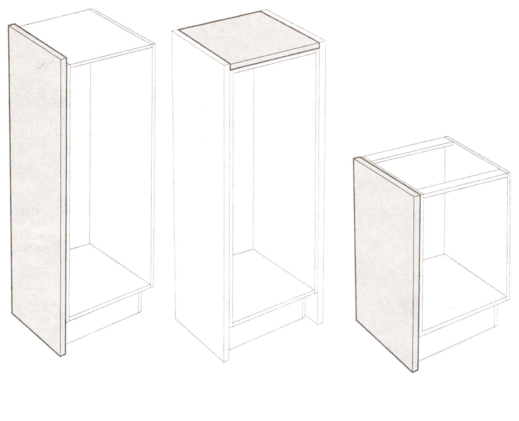 ikea perfekt deckseite tresenplatte hochglanz wei 241x60x7 6cm. Black Bedroom Furniture Sets. Home Design Ideas