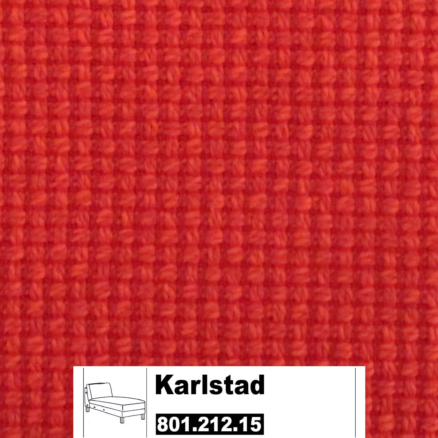 ikea karlstad bezug f r recamiere anbau in korndal rot 80121215 80121215. Black Bedroom Furniture Sets. Home Design Ideas