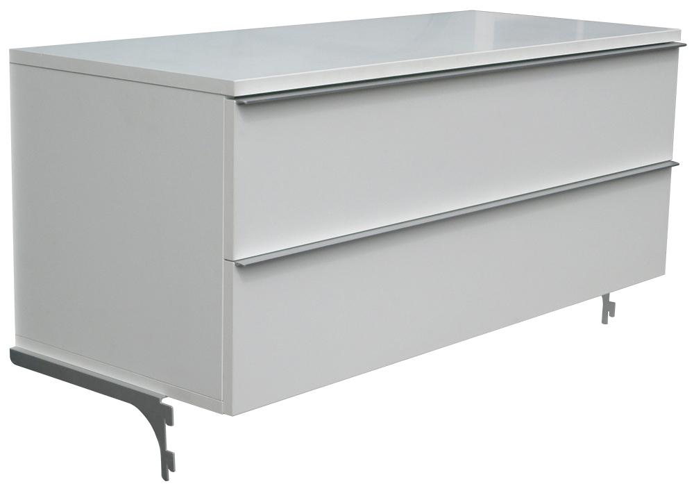 Ikea nga tv bank mit 2 schubladen 100x42x40cm for Kuchenunterschrank mit schubladen 100 cm