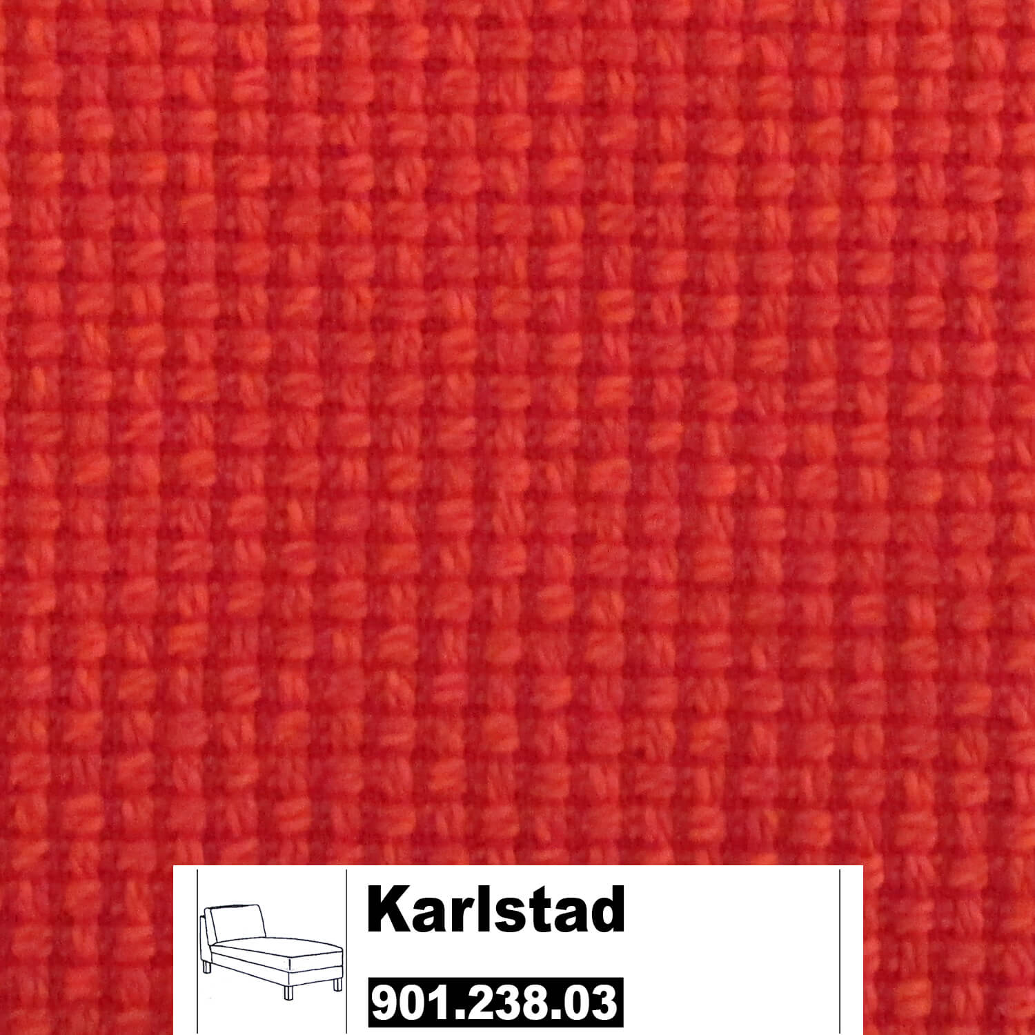 ikea karlstad bezug f r recamiere freistehend in korndal rot. Black Bedroom Furniture Sets. Home Design Ideas