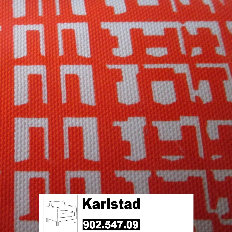 ikea karlstad bezug f r sessel gro in husie orange. Black Bedroom Furniture Sets. Home Design Ideas