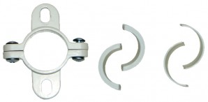 IKEA STOLMEN Doppel-Beschlag / Halter in weiß