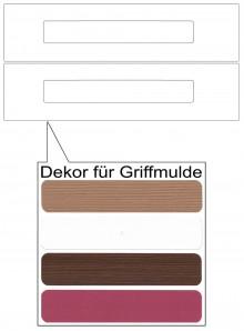 IKEA Märsta Schubladenfronten 2er 40x10cm weiß Griffmulde 302.854.26