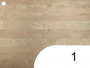 IKEA Galant Ecktischplatte / L - Form 160x80x60x120cm  - Birke gebraucht 400.568.58