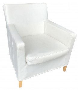 IKEA KARLSTAD Sessel LEDER Grann weiß
