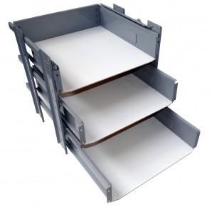 IKEA Effektiv 3x Schubladenset / Auszüge 40x38cm für Aufsatz 45x43cm