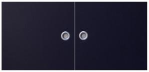 IKEA Effektiv Türen (Paar) inkl. Griff in dunkelblau 40x38cm inkl. Scharniere