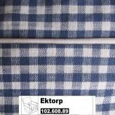 IKEA Ektorp Jennylund Bezug für Sessel Norraby blau kariert 102.608.89