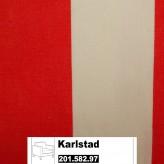 IKEA Karlstad Bezug für Sessel (Groß) in Rannebo rot/weiß 201.582.97