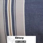 IKEA Ektorp Bezug für Freist. Recamiere in Åbyn blau 201.930.45 (20193045)