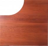 IKEA Effektiv Ecktischplatte links 120x120x60x80cm goldbraun