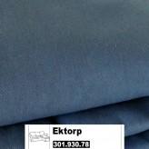 IKEA Ektorp Bezug f. 2er-Sofa mit Recamiere in Idemo blau 301.930.78 (30193078)