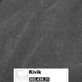 IKEA Kivik Bezug für 1er Sitzelement in Idemo schwarz 302.439.31