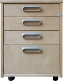 IKEA Effektiv Rollcontainer mit 4 Schubladen Birke 400.438.99