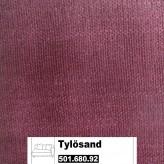 IKEA Tylösand Bezug für 2er Sofa mit einer Armlehne in Everöd dunkelrot 501.680.92