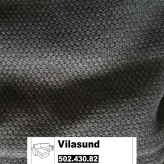 IKEA Vilasund Bezug für 3er Bettsofa + Recamiere in Dansbo dunkelgrau 502.430.82