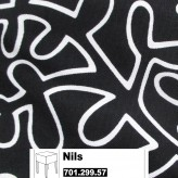 IKEA Nils Bezug für Hocker in Eslöv schwarz / weiß 701.299.57