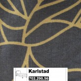IKEA Karlstad Bezug für Recamiere (Anbau) in Bladåker blau, beige 702.290.56