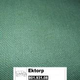 IKEA Ektorp Bezug für 2er Sofa mit Recamiere in Svanby grün 801.931.08