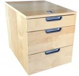 IKEA Galant Rollcontainer 3 Schubladen Birkenfurnier Zahlenschloß 802.064.36