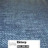 IKEA Ektorp Bezug für 2er-Sofa mit Récamiere Vellinge dunkelblau 902.268.58