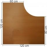 IKEA Effektiv Tischplatte in Buche, dunkel 120x120x60x80cm, L Form